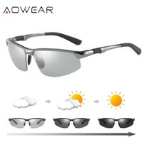 Wholesale polarized anti glare night driving glasses for sale - Group buy Aowear Hd Men s Photochromic Polarized Sunglasses Men Polarized Chameleon Glasses For Day Night Driving Anti glare Eyewear Gafas Y19052001