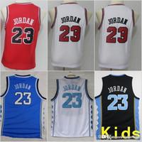 Youth Kids Chicago Michael 23 Bulls Jerseys North Carolina Tar Heels Basketball  Stitched Size S-XL c98abb26f