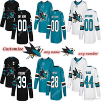Wholesale brent burns for sale - Group buy Custom Men s San Jose Sharks jerseys Brent Burns Erik Karlsson Logan Couture Customize any number any name hockey jersey