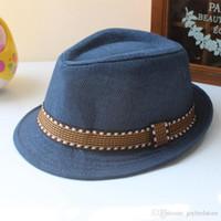 sombrero de paja para bebé niño al por mayor-Sombreros de lujo Nuevo Sombrero de paja Sombreros de bebé Sombrero de niños Sombrero Bucket Sombrero de sol Sombrero de verano para niñas Niños Sombrero Accesorios de fotografía