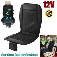 serin masajlar toptan satış-12 V Yeni yaz serin havalandırma yastık araba yastık soğutma koltuk hava fanı masaj koltuğu klima yastık 2 hızları düşük / yüksek