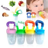 nippel milchflasche großhandel-10 stücke Infant Newborn Baby Schnuller Frische Lebensmittel Milch Nippel Sichere Baby saft Fütterung Liefert Nippel Sauger Schnuller Flaschen