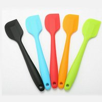 Wholesale baking brush for sale - Group buy Silicone Cake Cream Spatula Mixing Scraper Brush Spoon Kitchen Baking Tool