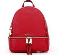 saco de nylon mensageiro mulheres venda por atacado-De alta qualidade novas mochilas designer 2018 mulheres da moda senhora preto vermelho saco de mochila encantos Moda messenger bag frete grátis