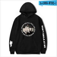 santa hoodie women toptan satış-Billie Eilish kapüşonlu rap şarkıcıları satan Toptan Moda Erkek Tasarımcısı Sokak Erkek Kadın kapşonlu etrafında kapüşonlu bodysuits gevşek 2019