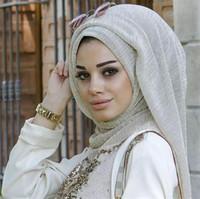 ingrosso sciarpa araba nera-21 Colori Donne Hijab Musulmano Sciarpe di moda 100 * 75cm Lungo nuove sciarpe femminili Sciarpa di lino cotone Jersey Scialle Hijab musulmano