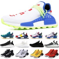 Wholesale human race runner boost running shoes resale online - NMD Human Race Trail Boost Running Shoes Men Women Pharrell Williams HU Runner Yellow Black White Cheap Trainer Sport Sneaker Size