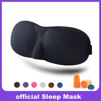 parches para dormir al por mayor-Máscara de sueño 3D Máscara de ojos durmiente rápido Sombra de ojos Sombra Parche Mujeres Hombres Suave portátil con los ojos vendados Viajes slaapmasker