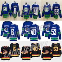 hokey forması pavel toptan satış-Vancouver Canucks # 40 Elias Pettersson 6. Brock Boeser # 53 Bo Horvat 33 Henrik Sedin 10 Pavel Bure 89 Alexander Mogilny Hokeyi Formalar