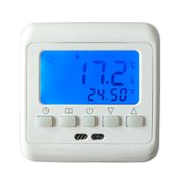 régulateur de température bleu achat en gros de-Nouveau Thermostat avec plancher chauffant rétro-éclairage bleu Touches LCD hebdomadaire d'ambiance programmable chaud Régulateur de température NTC capteur