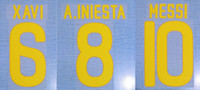 2011-2012 home Xavi Messi A.Iniesta nameset patch badge