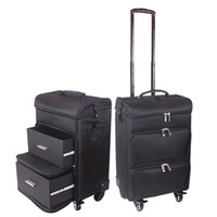 2021 suitcase Professional women trolley makeup case large rolling luggage new cosmetic box beauty tattoo manicure toolbox multilayer