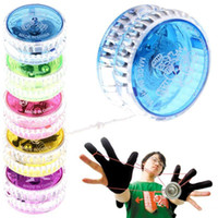 novo yoyo venda por atacado-YoYo Bola Luminosa Brinquedo Novo LED Piscando Criança Mecanismo de Embreagem Yo-Yo Brinquedos para Crianças Partido / Entretenimento Venda A Granel