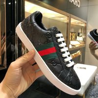 ingrosso migliori scatole regalo-2019 [Con scatola] Migliore qualità ACE ricamato drago bianco regalo sneaker scarpe in vera pelle di design scarpe casual da uomo di lusso
