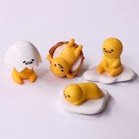 ingrosso beni giapponesi-Gudetama Egg 4 Stile 2 ~ 3cm giapponese d'animazione massa merci, alimentari e gioco ornamenti, bambole giocattolo, uova pigri, tuorlo d'uovo, uova, i bambini, tavolo carino