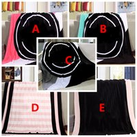 Wholesale Pink Letter Blanket cm Soft Coral Velvet Beach Towel Blankets Air Conditioning Rugs Comfortable Carpet Shawls