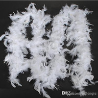 Wholesale chicken clothing resale online - Chicken Feather Strip Turkey Feather Boa for clothing accessories Clothing sewing supplies and fabrics scary meters