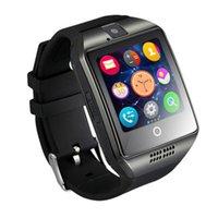 ingrosso telefoni di grande schermo-Q18 Bluetooth Smart Watch Uomo Donna Bambini Guarda con touch screen Grande batteria supporto TF Sim Card Remote Camera Video per Android Phone