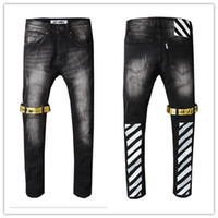 erkek pantolon yeni stil toptan satış-Moda Erkek Canlanma Kot Sokak Tarzı Erkek Kot Kot Pantolon Tasarımcı Pantolon erkek Boyutu 28-40 Yeni # 8686