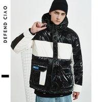 herren winddichte daunenjacke großhandel-Mens Designer Daunenmantel Luxus farblich passende dicke Jacke Active Winter Windproof Jacken für Outdoor Damen Kapuzenmantel Top Qualität