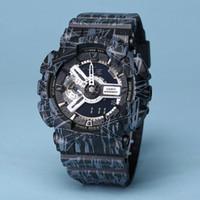 освещение спортивных часов оптовых-мужские часы GA110 г наручные часы шок защиты Спорт новый цвет светодиодные часы авто свет Моды мужские платья часы оригинальный коробка Hombre
