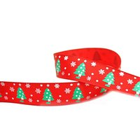 Wholesale gifts packaging ribbons resale online - Christmas Ribbon For Craft M Grosgrain Satin Fabric Ribbon Set For Holiday Winter Package Gift Wrapping Hair Bow Clips A