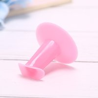 soporte de pintura soporte al por mayor-1 piezas Nail Art Pink Soft 3D Flower Painting Drawing Finger Support Stand Rest Holder para Gel Polish Coating Salon Accesorios