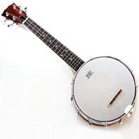 banjo ukulele venda por atacado-Nova marca Mini 4String Ukulele Banjo