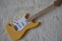 Wholesale electric guitars prices online - Factory In Stock Now Special Price Left handed Cream Electric Guitar with Scalloped Maple Fretboard White Pickguard High Qualit