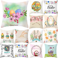 Wholesale padded pillow case resale online - Easter Day Throw Pillow Case Cartoon Linen Cushion Covers Bedroom Sofa Car Household Pad Cover Home Decor Decorations Free DHL WX9