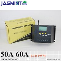 Wholesale 48v pwm controller resale online - 50A A V V auto work V PWM SOLAR charge controller with LCD display charge regulator