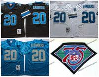 6216b252 Vintage Detriot 20 lions Barry Sanders Football Jerseys 75th Patch Cheap  Barry Sanders Stitched Shirts M-XXXL