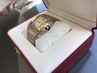 xl altın saatler toptan satış-En Kaliteli 100 XL 42mm Oto Erkekler 18kt Sarı Altın Çelik Otomatik İzle W200728G erkek Izle