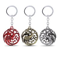 sacs cadeau maison achat en gros de-Série télévisée Porte-clés Keychians House Targaryen Fans Gift Party