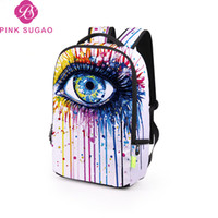 Wholesale colorful rhinestone letters for sale - Pink sugao designer backpack new fashion school bags luxury bag colorful eye travel bags for middle school student large capacity color