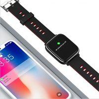 anschlüsse armband großhandel-Q58S Smart Watch 1.3 Vollbild Touch Smart Band Pulsmesser Smartwatch Fitness Tracker Armband Verbindung Android IOS