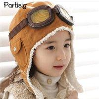 Wholesale crochet baby aviator hat for sale - Group buy Children s Pilot Hat Baby Boys Winter Aviator Hats Caps Boys Fashion Earflap