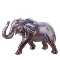 animais de jardim de resina venda por atacado-Miniatura de resina Artesanato Detalhes no elefante dos desenhos animados da forma Enfeites Fada Terrário Jardim Animal Gift presentes enfeite de Natal