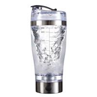 mischer haushalt großhandel-450ml USB aufgeladener Protein Pulver Shaker Cup elektrischer automatischer Mixer, eingebaut in eine Lithiumbatterie, BPA-frei, Wasserflasche, Rührbecher