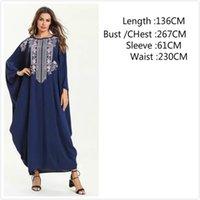 i̇slami arapça kadın giysileri toptan satış-Kadınlar için sıcak satış Müslüman Elbise Dubai Kaftan Uzun Kollu Uzun Arapça Elbise Abaya İslam Giyim Kız Kaftan Abaya