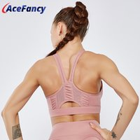 Wholesale gym clothes resale online - High Stretch Breathable Sport Bra Top Acefancy Push Up Yoga Underwear Bra for Running T1917 Sport Clothes For Women Gym