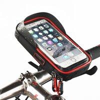 bisiklet için destek toptan satış-Telefon Tutucu Evrensel Bisiklet Motosiklet Mobil Destek Standı Su Geçirmez Çanta iphone X 8 S8 S9 GPS Bisiklet Tutucu Gidon Çantası