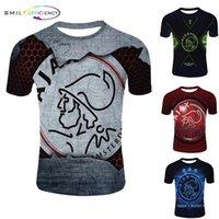 nuevas camisetas impresas al por mayor-Nueva llegada Serie 3d Imprimir Harajuku Style Hombres camiseta Ajax 2019 2020 Camisa Ajax 3d T O-cuello Camiseta Hombre Camisetas Verano