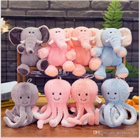 animal elefante al por mayor-25cm Cute Octopus Elephant Plush Toys Peluches de peluche Animales Muñecas Niños Niños Regalos de cumpleaños de Navidad al por menor