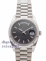relojes de auto para hombres al por mayor-Productos de lujo para hombres Calidad clásica Gran día-fecha Auto 40mm Oro blanco para hombre Presidente Reloj pulsera 228239 Reloj de movimiento automático