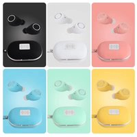 Wholesale invisible ear bluetooth headphones for sale - Group buy M8 TWS Invisible in ear Earbuds Macaron Bluetooth Mini Earphones Smart Touch Button Sports Headphone with Charging Box