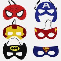 Wholesale princess mask for children resale online - Superhero Mask Cosplay Superman Batman Spiderman Hulk Thor IronMan Princess Halloween Christmas Kids Adult Party Costumes Masks