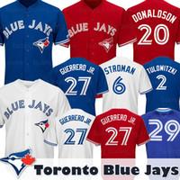 Wholesale alomar jersey resale online - Blue Jays Jerseys Vladimir Guerrero Jr Joe Carter Toronto Josh Donaldson Marcus Stroman Tulowitzki Alomar Bautista Pillar