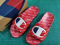 zapatos de agua unisex al por mayor-Para mujer Campeones Carta Sandalias de Verano Zapatilla de Verano Resbalón en Chanclas Plataforma Cuña Sandalias Playa Agua Lluvia Mulas Zapatos 35-44