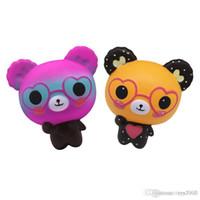 juguetes de celulares al por mayor-Squishy Toys Squishies Conejo tigre búho panda piña oso pastel sirena Slow Rising Squeeze Cute Cell Phone Strap gift for kid to